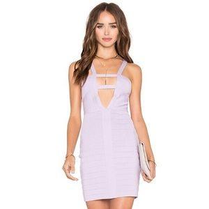 NBD x Naven Twins Lilac bandage dress